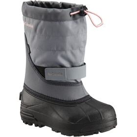 Columbia Powderbug Plus II Boots Youth Grey Ash/Rosewater